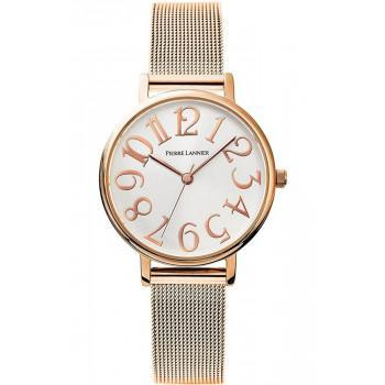 PIERRE LANNIER  Ladies - 091L928,  Rose Gold case with Stainless Steel Bracelet