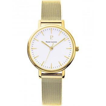 PIERRE LANNIER  Ladies - 093L508,  Gold case with Stainless Steel Bracelet