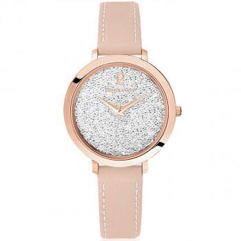 PIERRE LANNIER Ladies Crystals- 105J905  Rose Gold case with Pink Leather strap