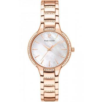 PIERRE LANNIER Ladies Crystals - 037G999,  Rose Gold case with Stainless Steel Bracelet