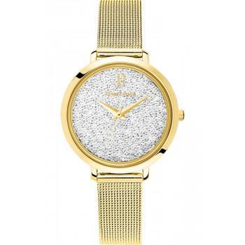 PIERRE LANNIER  Ladies Crystals - 105J508,  Gold case with Stainless Steel Bracelet
