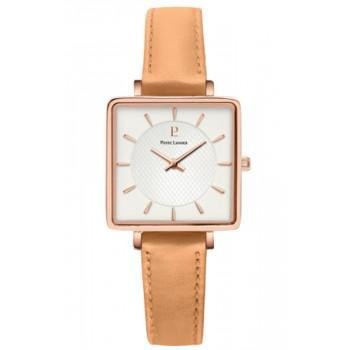 PIERRE LANNIER Lecare - 008F929  Rose Gold case with Brown Leather strap