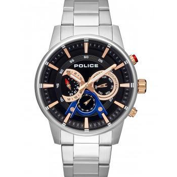 POLICE Avondale Multifunction - PL15523JS-02M,  Silver case with Stainless Steel Bracelet