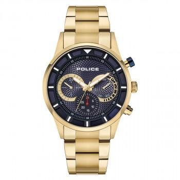 POLICE Dulak Multifunction - PEWJK2014302,  Gold case with Stainless Steel Bracelet
