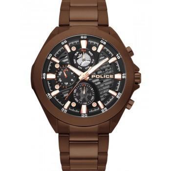 POLICE Wadden Multifunction - PL.15654JSBN/61M,  Brown case with Stainless Steel Bracelet