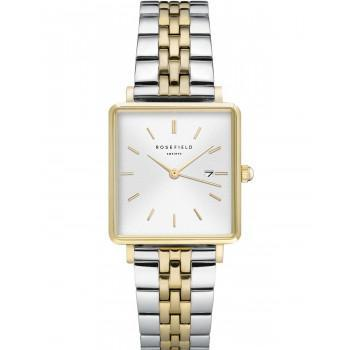 ROSEFIELD The Boxy - QVSGD-Q013,  Gold case with Stainless Steel Bracelet