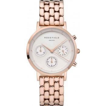 ROSEFIELD The Gabby Chronograph  - NWG-N91 Rose Gold case with Stainless Steel Bracelet