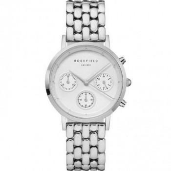 ROSEFIELD The Gabby Chronograph  - NWG-N92  Silver case with Stainless Steel Bracelet