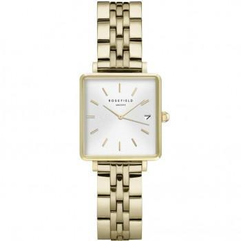 ROSEFIELD The Mini Boxy - QMWSG-Q021  Gold case with Stainless Steel Bracelet