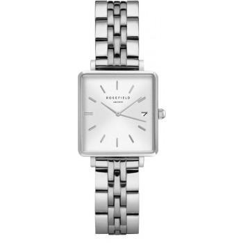 ROSEFIELD The Mini Boxy - QMWSS-Q020  Silver case with Stainless Steel Bracelet