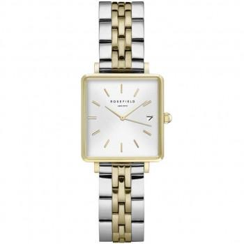 ROSEFIELD The Mini Boxy - QMWSSG-Q023  Gold case with Stainless Steel Bracelet