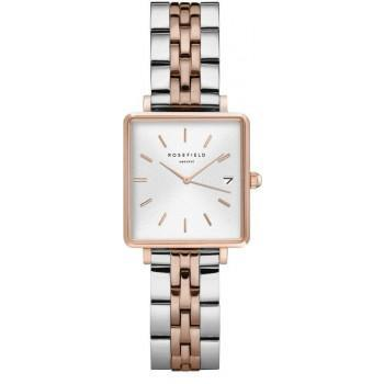 ROSEFIELD The Mini Boxy - QMWSSR-Q024  Rose Gold case with Stainless Steel Bracelet