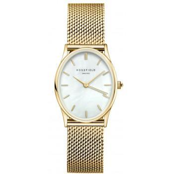 ROSEFIELD The Oval - OWGMG-OV10  Gold case with Stainless Steel Bracelet