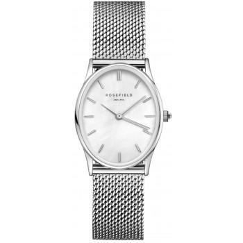 ROSEFIELD The Oval - OWSMS-OV11  Silver case with Stainless Steel Bracelet