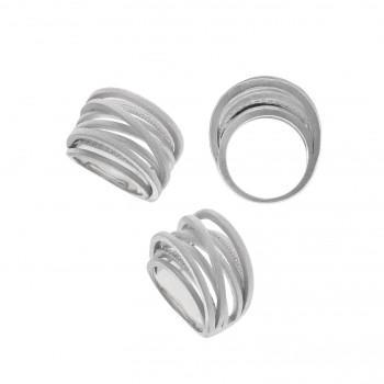 SALVATORE PLATA Δαχτυλίδι από από ανοξείδωτο ατσάλι Silver  256S0002/14