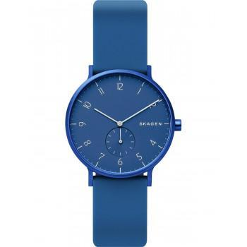 SKAGEN Aaren - SKW2817,  Blue case with  Blue Rubber Strap