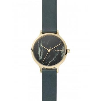 SKAGEN Anita Ladies - SKW2720 Gold case with Green Leather Strap
