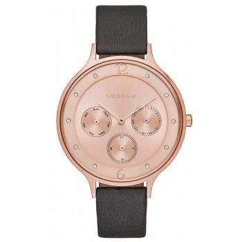 SKAGEN Anita - SKW2392 Rose Gold case, with Black Leather Strap