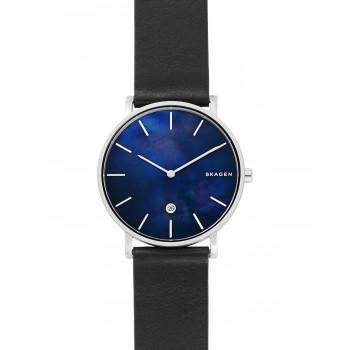 SKAGEN Hagen Mens - SKW6471, Silver case with Black Leather Strap