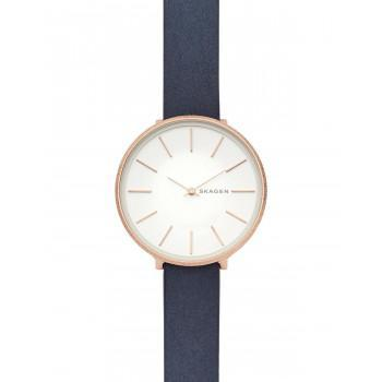 SKAGEN Karolina Ladies - SKW2723, Rose Gold case with Blue Leather Strap