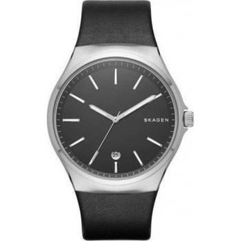 SKAGEN Sundby Mens - SKW6260  Silver case with Black Leather Strap