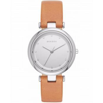 SKAGEN Tanja Ladies - SKW2455  Silver case with Brown Leather Strap