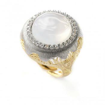 SOVRANI Δαχτυλίδι από από ανοξείδωτο ατσάλι Gold J5693