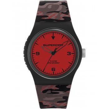 SUPERDRY Urban Fluro Camo  - SYG296BR,  Black case with Military Rubber Strap