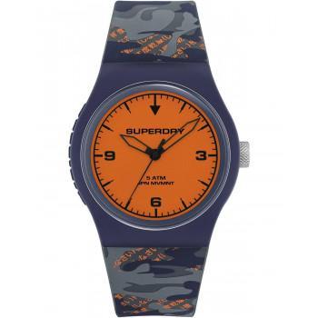 SUPERDRY Urban Fluro Camo  - SYG296UO,  Blue case with Military Rubber Strap