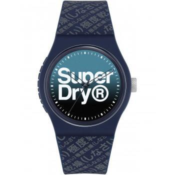 SUPERDRY Urban Gradient - SYG302U Blue case with  Blue Rubber Strap