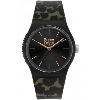 SUPERDRY Urban Leopard  - SYL299BN,  Blue case with Military Rubber Strap