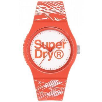 SUPERDRY Urban Original - SYL292WP Orange case with Orange Rubber Strap
