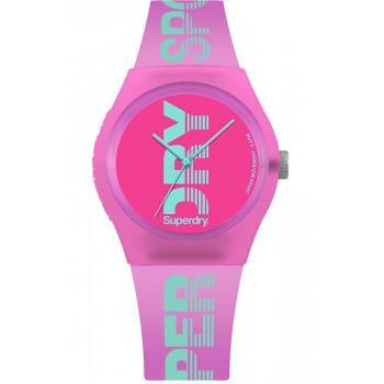 SUPERDRY Urban - SYL189PN,  Pink case with Pink Rubber Strap