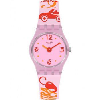 SWATCH Chillipassion - LP164  Pink case with Multicolor Rubber Strap