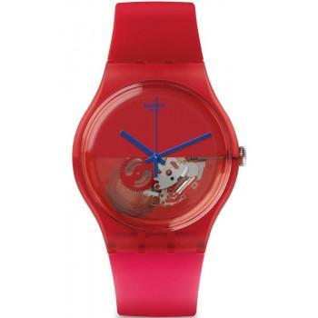 SWATCH Dipred  - SUOR103  Red case with Red Rubber Strap