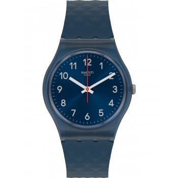 SWATCH Bluenel - GN271,  Blue case with Blue Rubber Strap