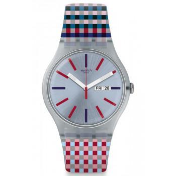 SWATCH  Merenda - SUOW709  Gray case with Multicolor Rubber Strap
