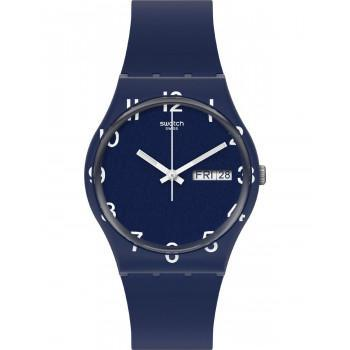SWATCH Over Blue - GN726,  Blue case with Blue Rubber Strap
