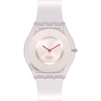 SWATCH Skin Creamy - SS08V101,  White case with White Rubber Strap