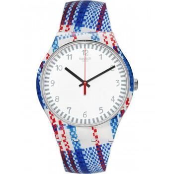 SWATCH  Tartanotto - SUOZ258C,  Multicolor Case with Multicolor Rubber Strap
