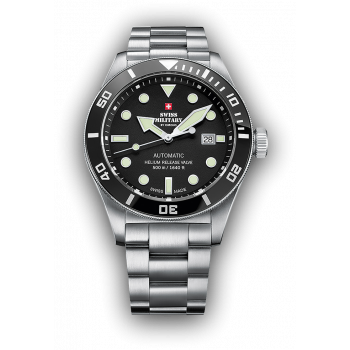 SWISS MILITARY by CHRONO Automatic  Mens - SMA34075.01  Silver case with Stainless Steel Bracelet