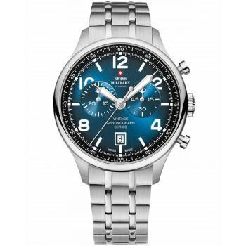 SWISS MILITARY by CHRONO Mens Chronograph -SM30192.03  Silver case with Stainless Steel Bracelet