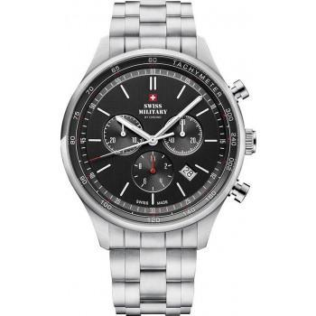 SWISS MILITARY by CHRONO Mens Chronograph - SM34081.01  Silver case with Stainless Steel Bracelet