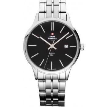 SWISS MILITARY by CHRONO Mens - SMP32043.01  Silver case with Stainless Steel Bracelet
