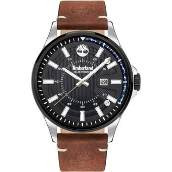 TIMBERLAND  BAYPORT - TDWJB2000602,  Silver case with Brown Leather Strap