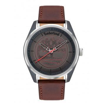 TIMBERLAND  BROOKMERE - TDWJA2000451,  Anthracite case with Brown Leather strap