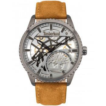TIMBERLAND  COLCHESTER - TDWJA2000902,  Grey case with Brown Leather strap