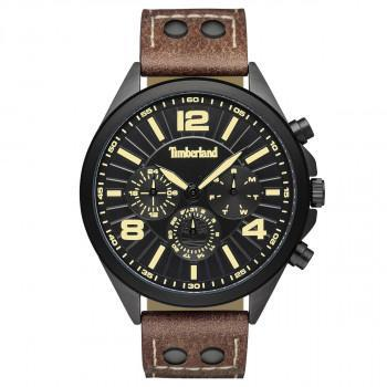 TIMBERLAND FERRISBURG - TBL.15902JYU/02-G,  Black case with Brown Leather strap