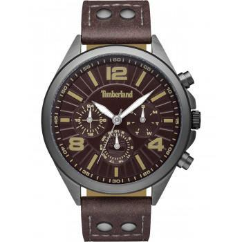 TIMBERLAND  FERRISBURG - TBL15902JYU12G,  Black case with Brown Leather Strap