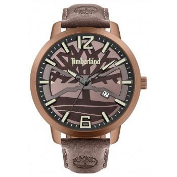 TIMBERLAND  GLARKSVILLE- TBL.15899JYBN/12-G,  Brown case with Brown Leather strap